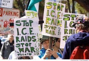 SFmayday移民弾圧反対