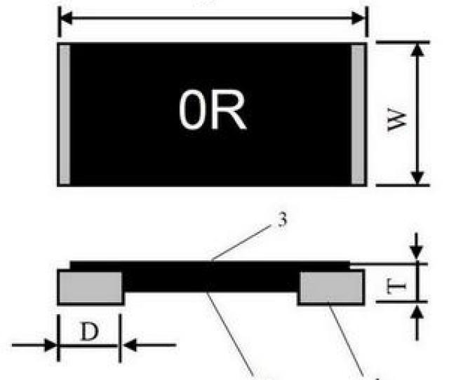 Zero Ohm Jumper Link Resistors Lrj Construction Dimensions