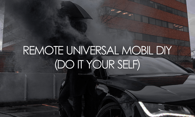 REMOTE UNIVERSAL MOBIL DIY (Do It Your Self)
