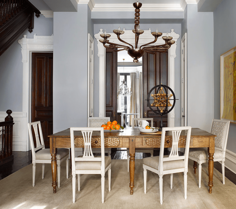 Sheila Bridges dining room harlem brownstone ED June 2014