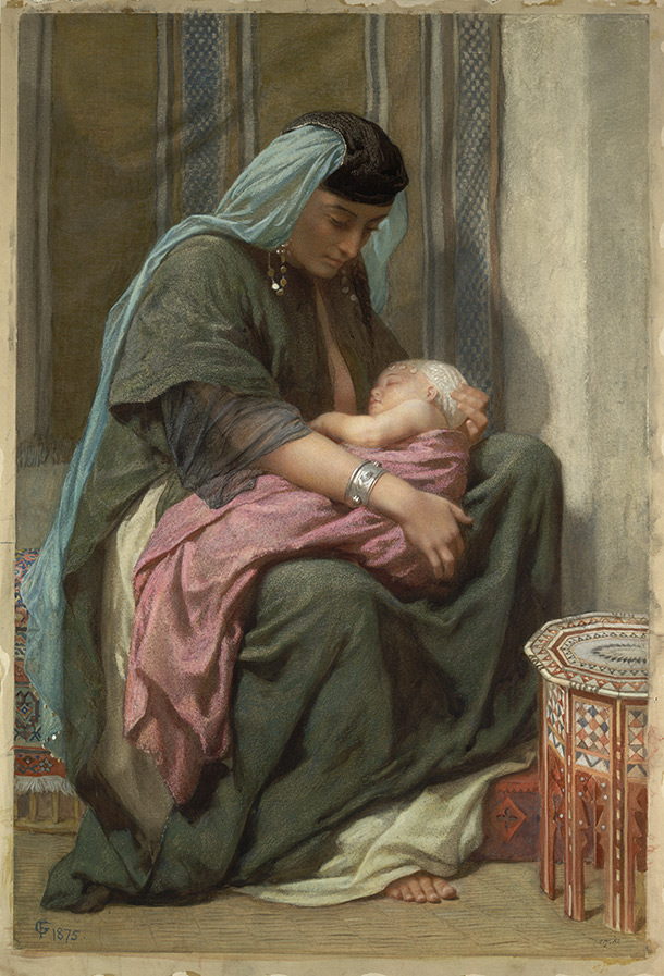 Copt Mother and Child', by Frederick Goodall, 1875, watercolour. Museum no. 517-1882, © Victoria and Albert Museum, London