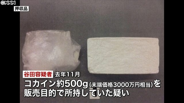 Police seized a half-kilogram block of cocaine from a man in Kabukicho