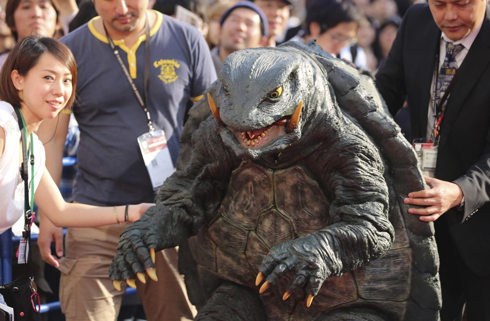 Gamera gets ready to hit the red carpet