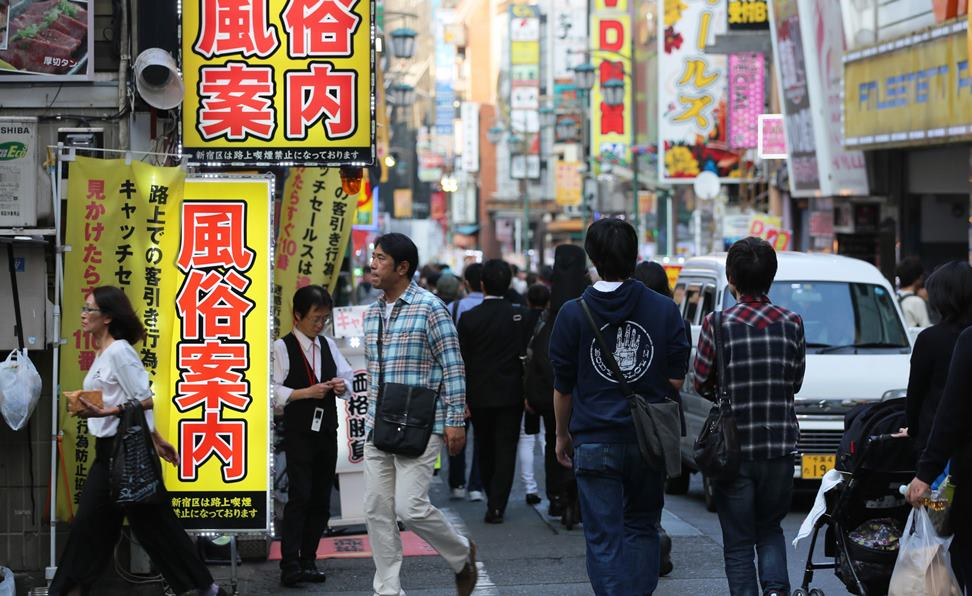 Tokyo police arrested a woman for forcing a friend to serve as a prostitute in the Kabukicho red-light district of Tokyo (pictured) and other locations
