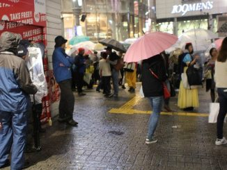 There were far fewer Halloween revelers this year in Shibuya due to cold weather (J-Cast)