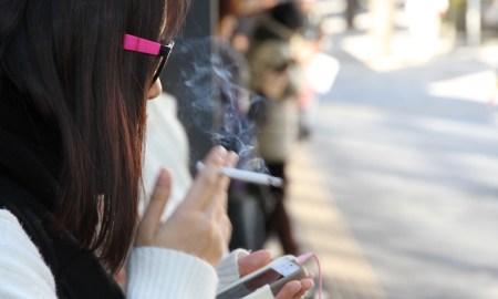 Japanese woman smoking