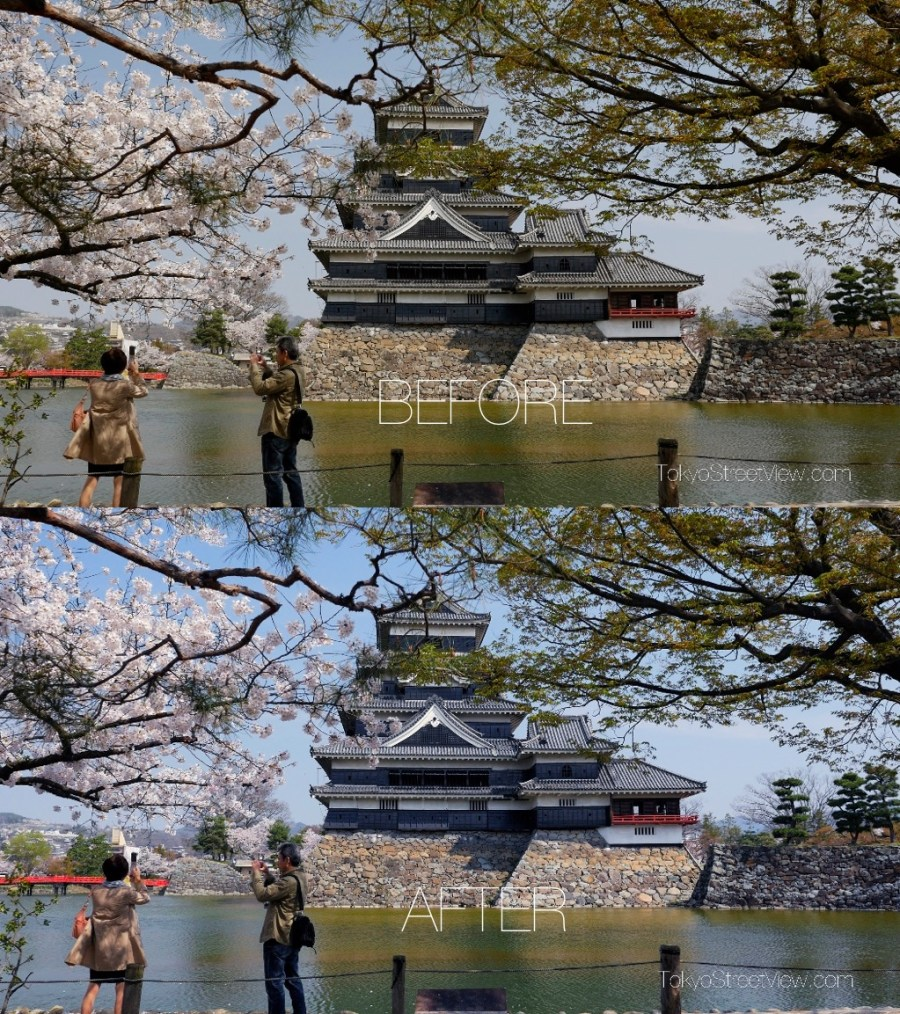 Matsumoto Castle Color Correction