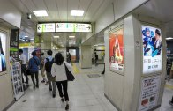 Walking around in Shibuya station