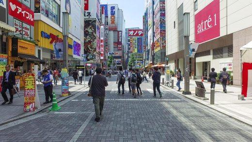 Walking around Akihabara