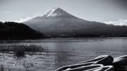 Black and white Fujisan