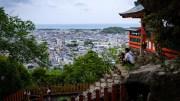 Enjoying the view from Kamikura Jinja