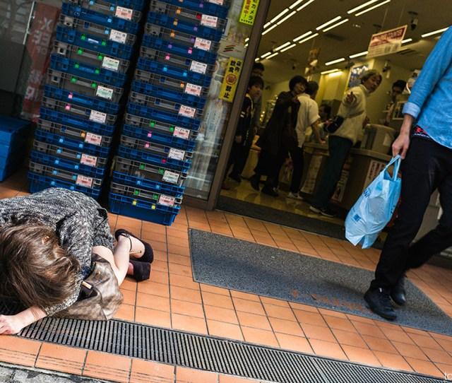 Drunk Japanese Woman