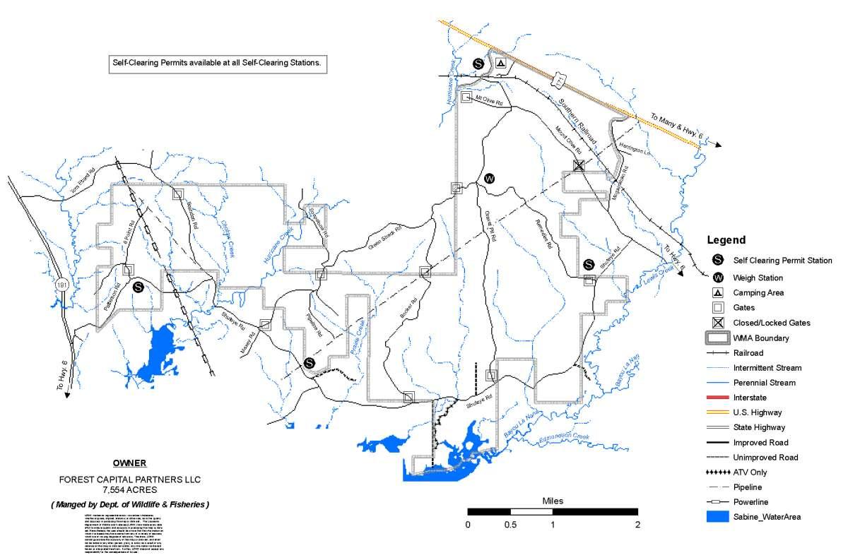Louisiana Wildlife Management Area Map
