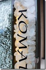 オリジナル合わせガラスサインの中のリコストーン
