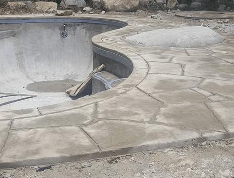 residential concrete pool decking