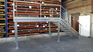 Escalier de secour pour local electrique pour le compte de SAFRAN TOLERIE GENERALE BEAUCHAMP 95250