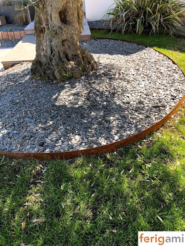 bordures de jardin acier corten