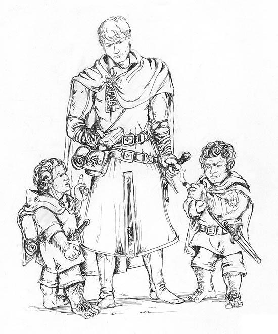 Merry, Aragorn et Pippin - Manuel Merelle