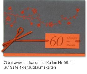 jugendliche Einladung für Ihren 60. Geburtstag