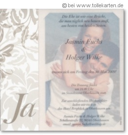 Hochzeitseinladung mit eigenem Bild