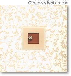 Einladungskarten mit Perlenherz