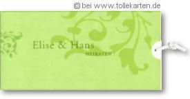 moderne Hochzeitseinladung grün: