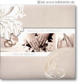 elegante einladungskarte zur hochzeit einladungskarten. Black Bedroom Furniture Sets. Home Design Ideas
