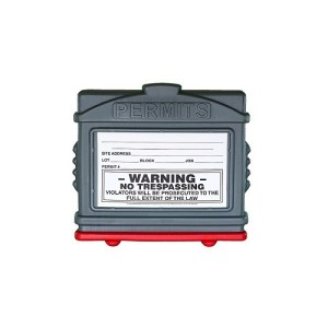 EZ Permit Box Gray and Red