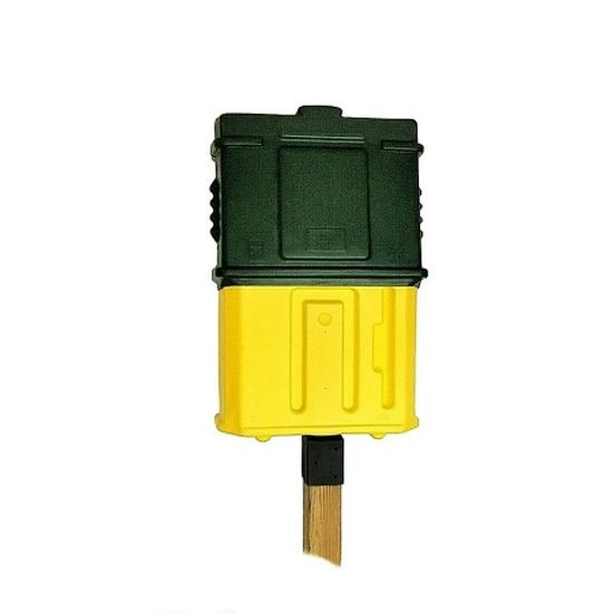 EZ Permit Box w/4x4 Post Adapter Green and Yellow