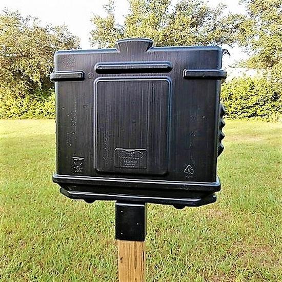 EZ Permit Box w/4x4 Post Adapter Black and Black