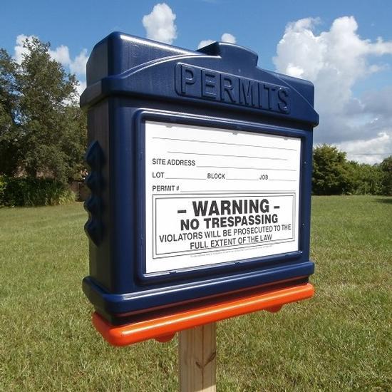 EZ Permit Box Blue and Orange