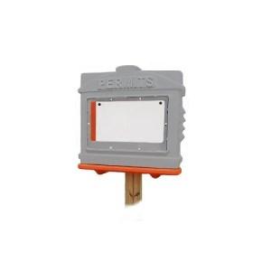EZ Permit Box w/ Window Gray and Orange