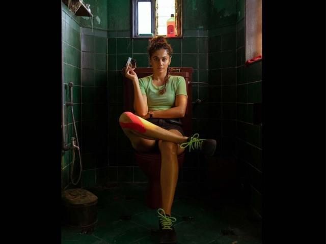 Taapsee Paanu has a toilet seat