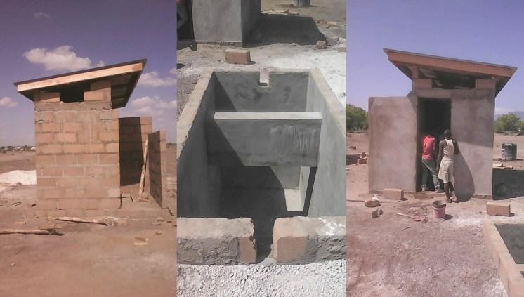 Bau des Toiletten-Traktes