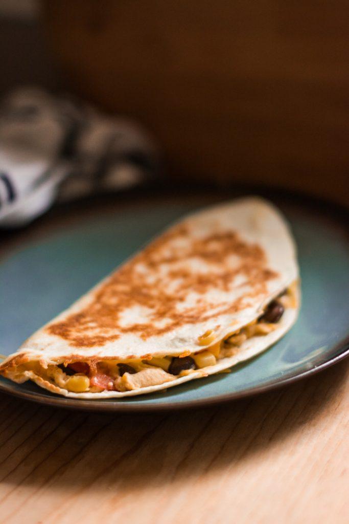 Hummus, Bean, and Corn Quesadillas - A 20-min. Healthy Lunch!