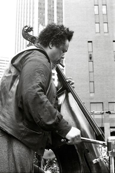 Charles Mingus. Bi Centenial, Lower Manhattan. 1976-07-04. Photo by Tom Marcello