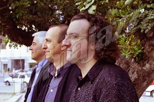 De izda. a dcha.: Barry Guy, Agustí Fernández y Ramón López © Carmen Llussà