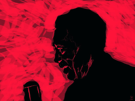 Duke Ellington por Diego Ortega Alonso. Incluido en la exposición de ilustraciones Duke Ellington por Diego Ortega Alonso.
