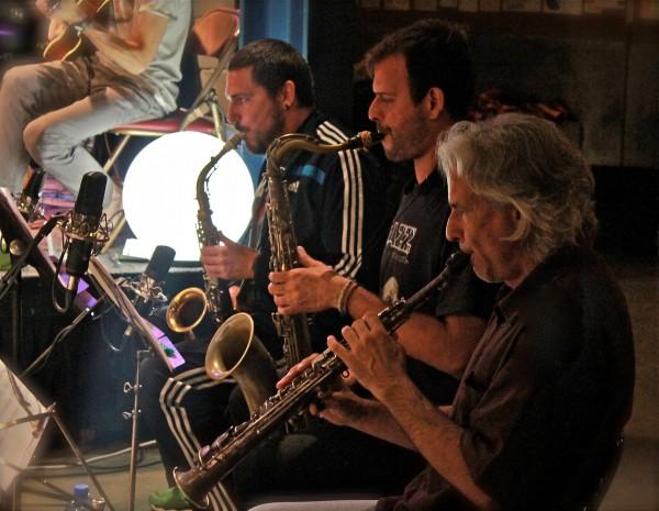 Tres de los mejores saxofonistas juntos: Ernesto Auignac, Enrique Oliver y Perico Sambeat