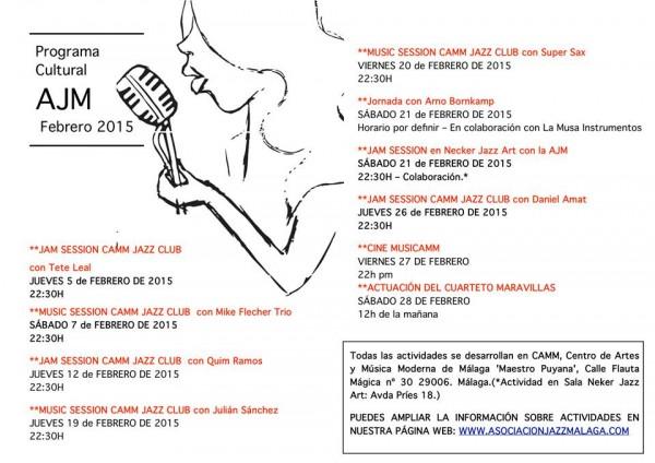 Oferta de conciertos de la AJM para este mes de febrero