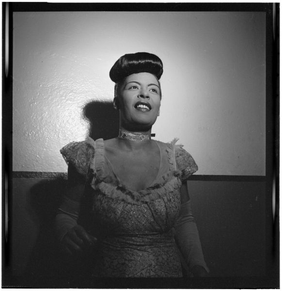 Portrait of Billie Holiday, Carnegie Hall, New York, N.Y., between 1946 and 1948. Photography William P. Gottlieb