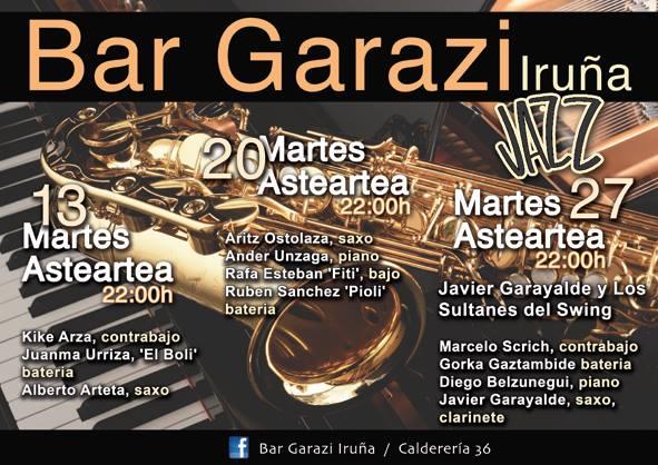 Jazz en Bar Garazi (septiembre de 2016. Pamplona, Navarra) [Noticias]