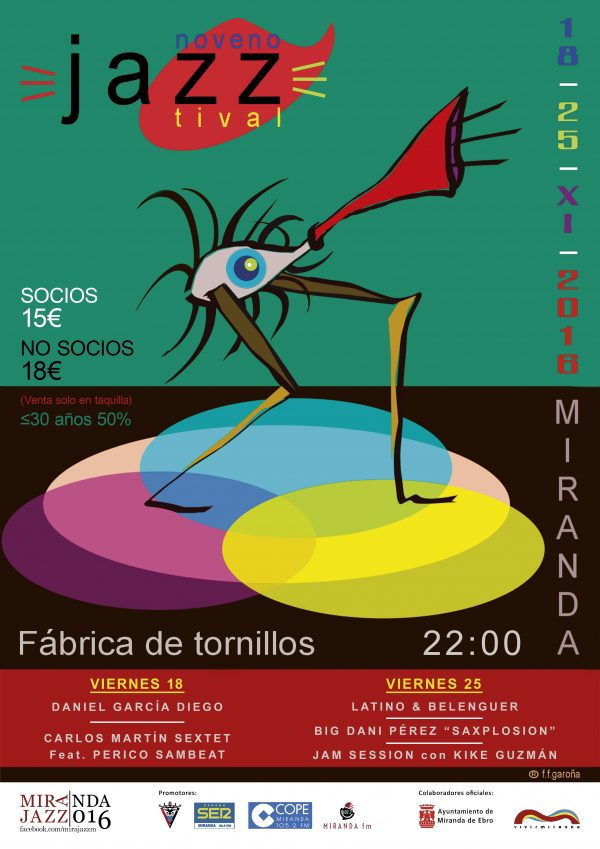 Noveno JazzTival (Miranda de Ebro. 18 y 25 noviembre 2016) [Noticias]