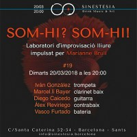 Sinestesia: González - Bayer - Caicedo - Reviriego - Furtado (Barcelona. 2018-03-20) [Noticias]