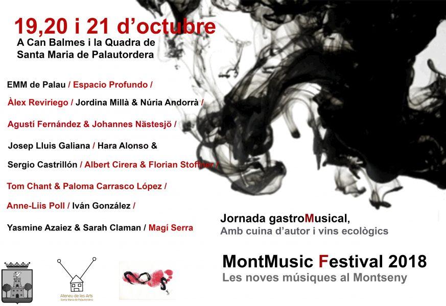 MontMusic Festival 2018. Les noves músiques al Montseny (19, 20 y 21 de octubre de 2018) [Noticias]
