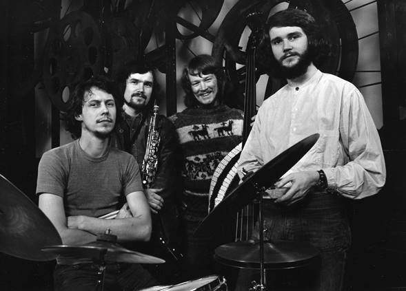 Primera formación de Rena Rama, 1971: Bengt Berger, Lennart Åberg, Palle Danielsson y Bobo Stenson