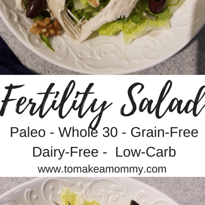 Fertility Salad- a Superfood Salad to boost chances of conception!