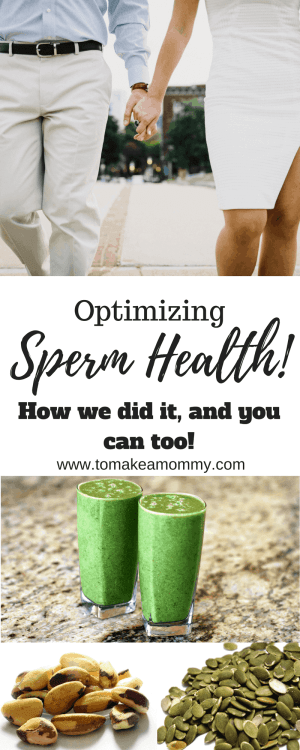 Increasing sperm health, sperm count, motility and morphology