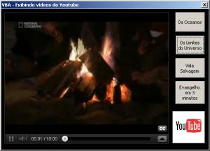 VBA Exibindo Videos do You Tube