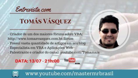 Entrevista no Canal Master MR